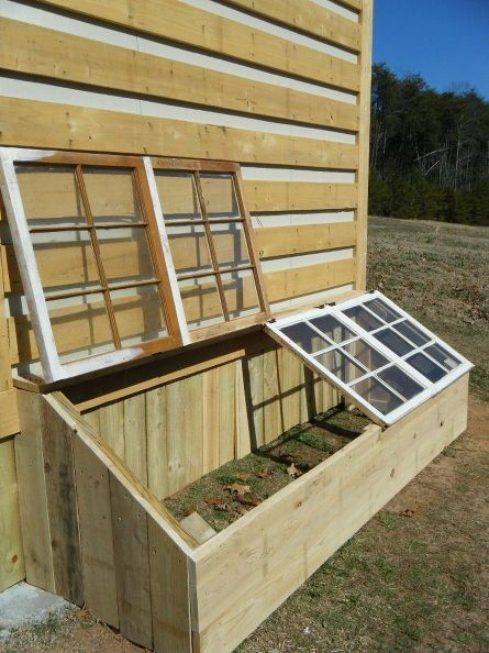 Small Greenhouse Made From Old Antique Windows.