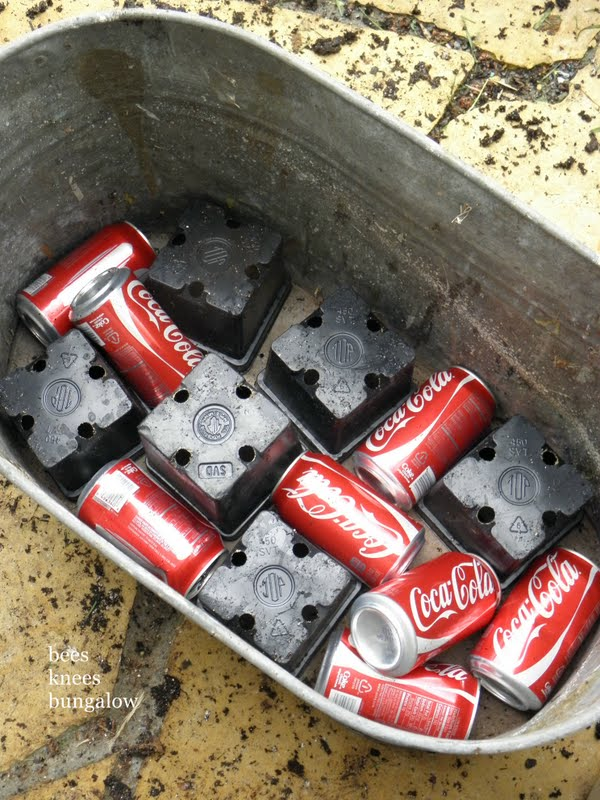 Use Empty Soda Cans At The Bottom Of A Planter To Make It Lighter.