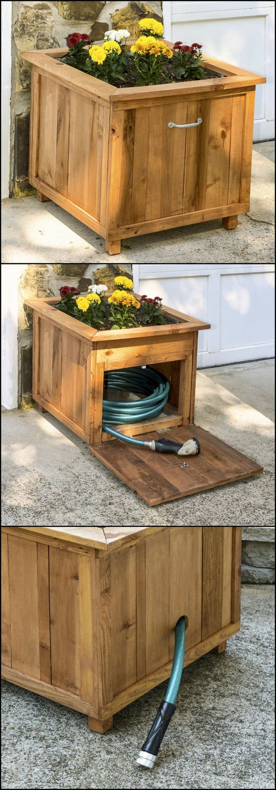 Hide Your Hose in a DIY Planter.