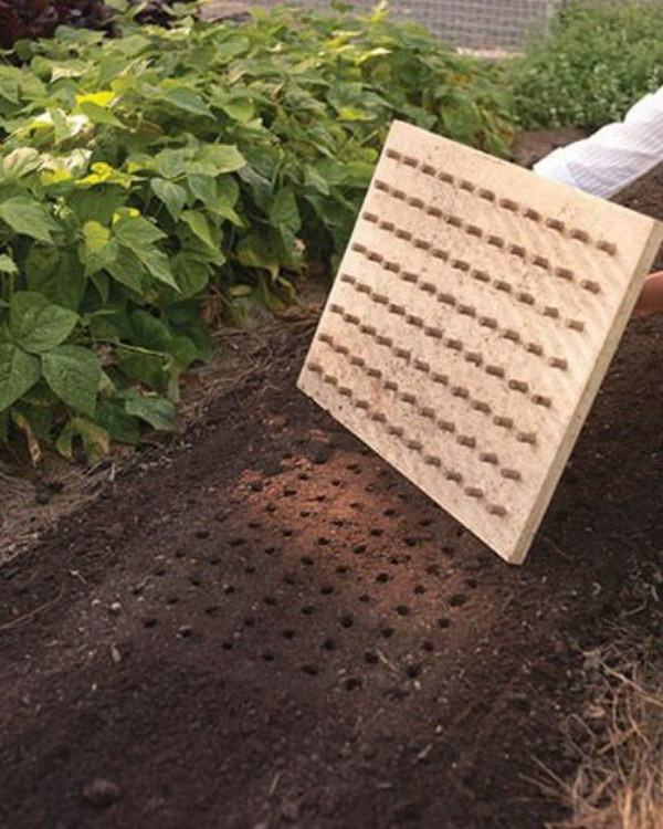Use This Diy Planting Board To Create Perfect Rows In Your Garden.