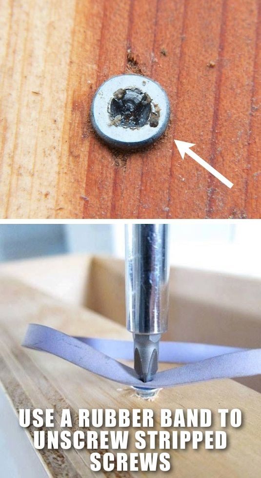 Use a Rubber Band to Unscrew Stripped Screws.