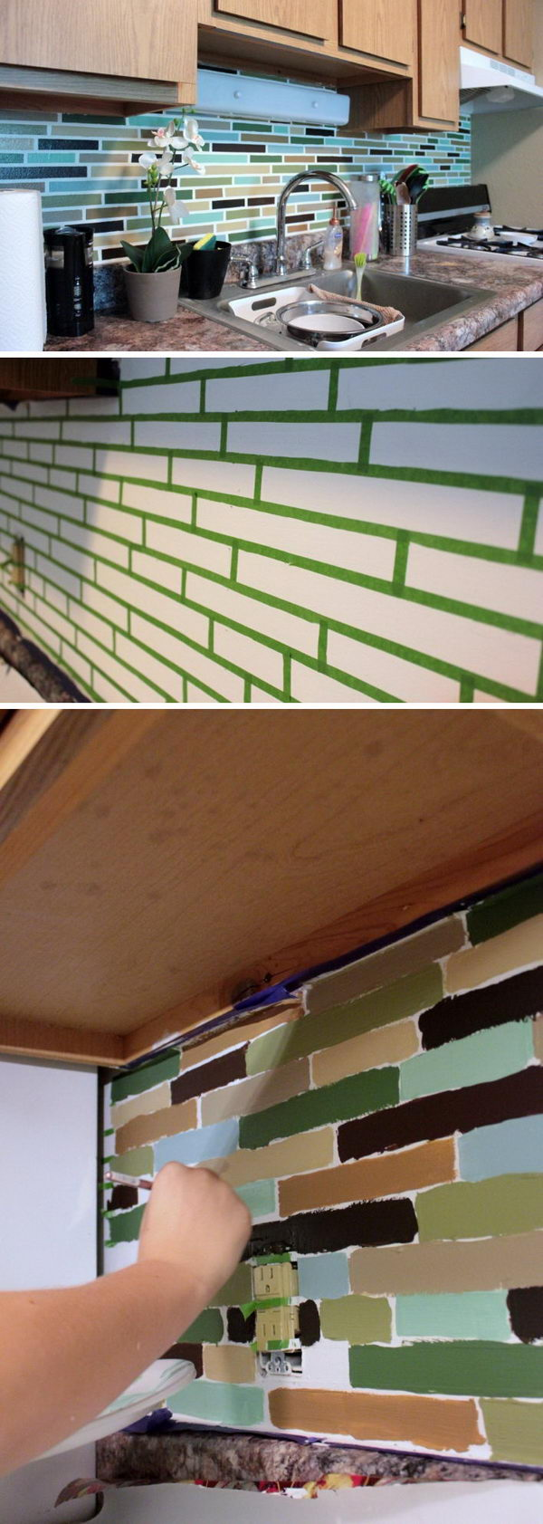 Mosaic Tile Paint Backsplash.