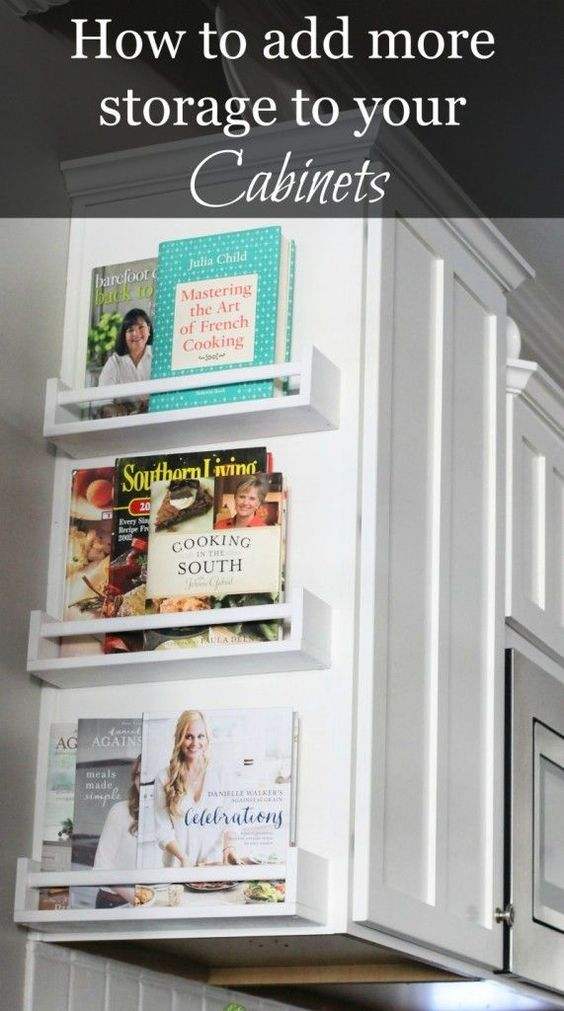 Easy Way to Add Storage to Your Kitchen cabinets.