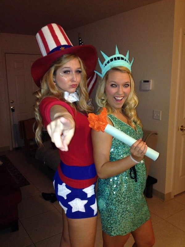 Lady Liberty And Uncle Sam.