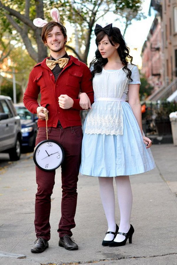 Alice in Wonderland Couple Costume.