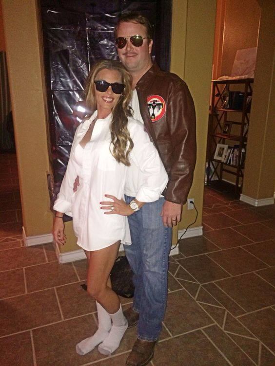 Risky Business Couple Costume.