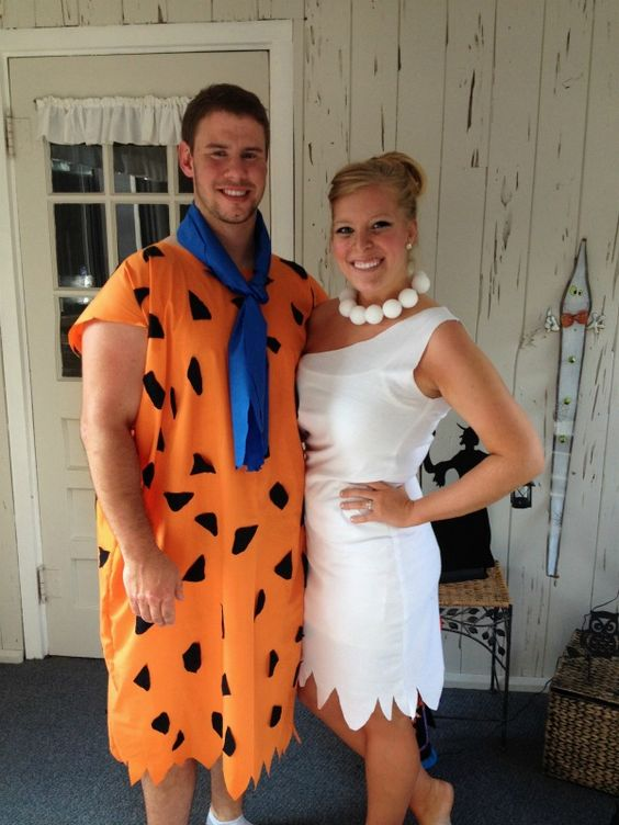 Flintstone Couple Costume.