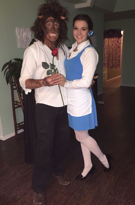 Beauty And The Beast Couple Costume.