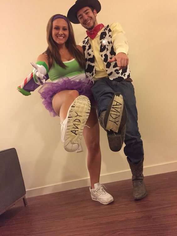 Woody And Buzz Lightyear Couple Costume.