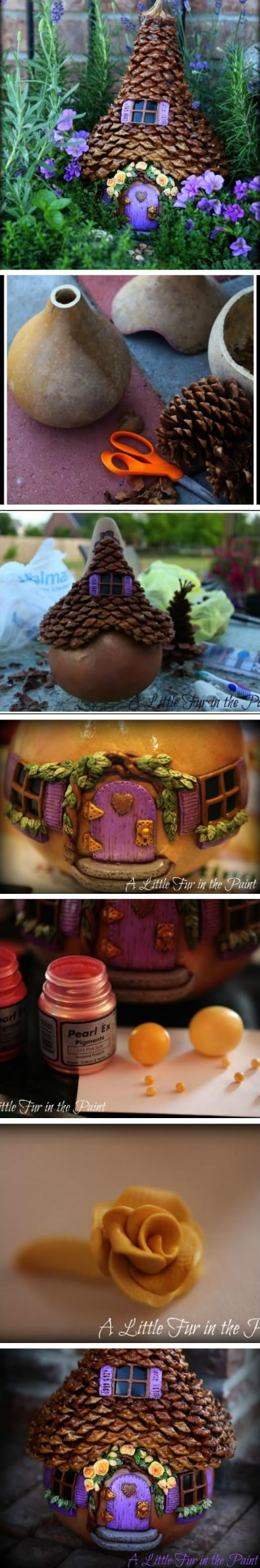 DIY Pinecone Decorated Fairy House