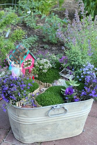 DIY Fairy Garden in a Bucket.