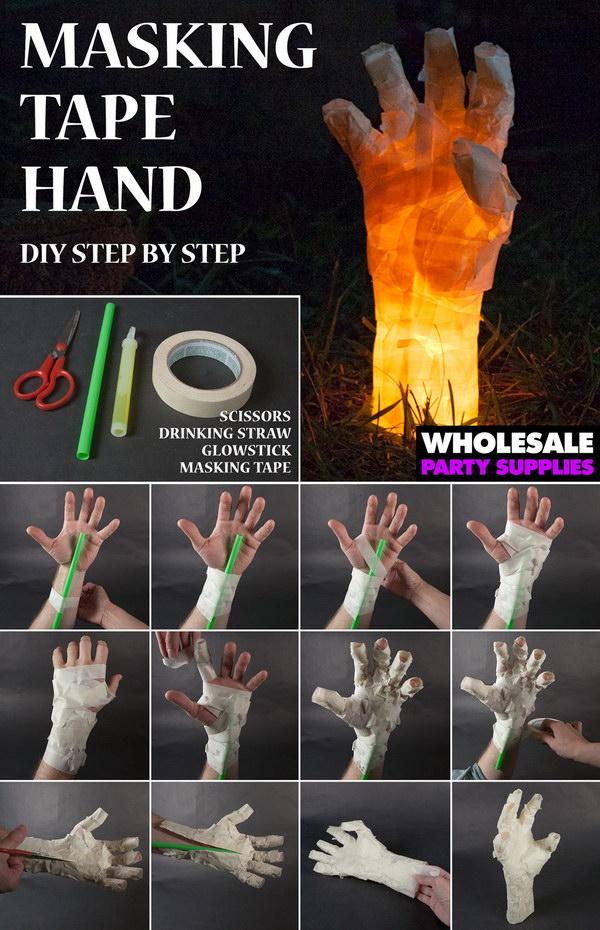 DIY Masking Tape Hand Prop.