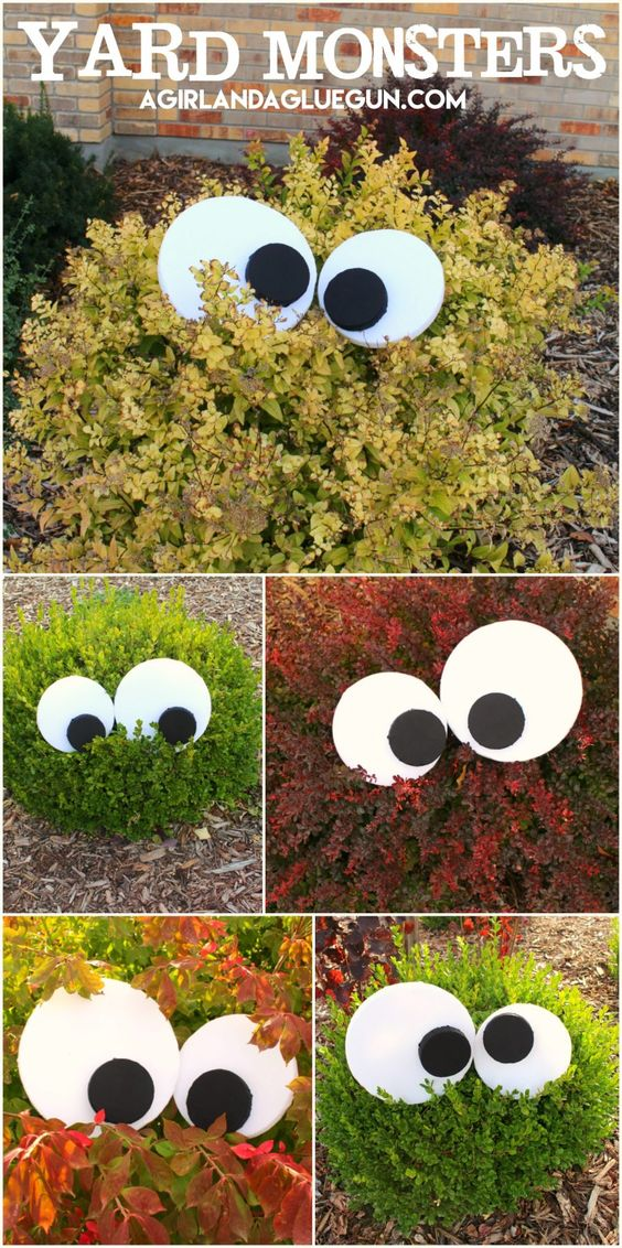 Easy DIY Yard Monsters.