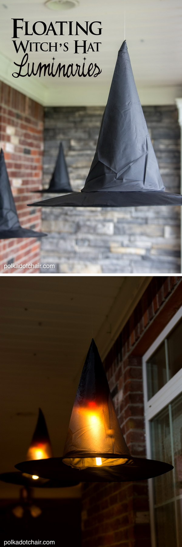 DIY Floating Witch Hat Luminaries.