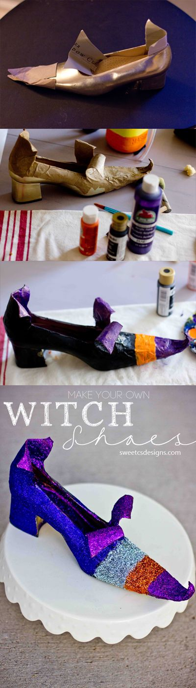 DIY Witch Shoes.